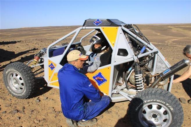 Premiers test de Little buggy, dans les montagnes de l'Atlas (Maroc)